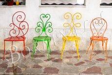Стол червен, стол зелен, стол жълт, стол мини Барлет